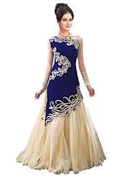 buy unique fashion station women u0027s velvet u0026 net semi stitched