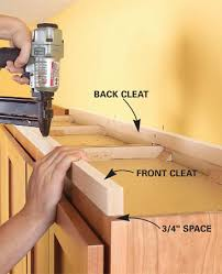 Adding Shelves To Kitchen Cabinets How To Add Shelves Above Kitchen Cabinets Cleats Shelves And