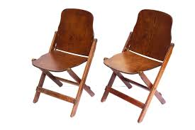 Vintage Wood Chairs Vintage Antique Wood Folding Chairs With Brass Hardware Set
