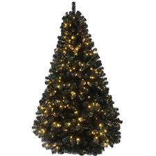 the 6ft pre lit black iridescence pine tree with warm white lights