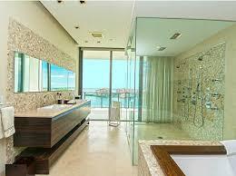 contemporary master bathroom with frameless showerdoor u0026 limestone