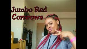 red cornrow braided hair jumbo red cornrows natural hair colored braids 1 giveaway