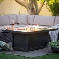 rectangle propane fire pit table napoleon rectangle propane fire pit table fire pits at hayneedle