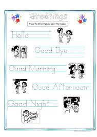 Worksheets For Kindergarten Printable Greetings For Kids Worksheet Free Esl Printable Worksheets Made