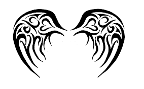 baby angel tribal wings tattoo design photos pictures and