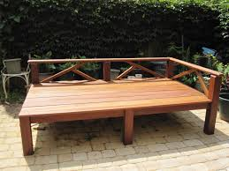 Wooden Outdoor Furniture Outdoor U0026 Landscaping Redoubtable Teak Wooden Outdoor Daybed And