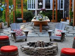 featured in yard crashers episode cobble driveway patio fire pit