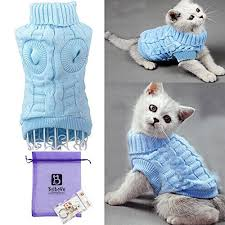 cat sweater sweaters for cats amazon com