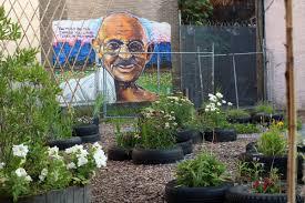 Garden Art The Gandhi Garden Community Garden Art Venue Trenton Nj