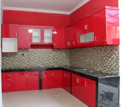 Red Kitchen Set - red hpl elegant kitchen set perumahan puri gading bekasi haidar