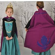 girls dress princess dress with cape children dresses anna elsa