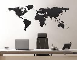 United States Map Wall Decal by Vinyl Wall Art Decal Sticker World Map From Stickerbrand