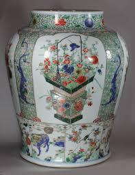 Large Chinese Vases Chinese Kangxi Famille Verte Porcelain