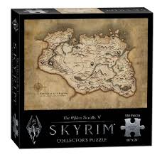 Elder Scrolls Map Amazon Com Usaopoly The Elder Scrolls V Skyrim Map Puzzle 550