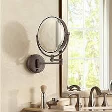 lighted vanity mirror wall mount wall mounted makeup mirrors magnifying lighted more ls plus