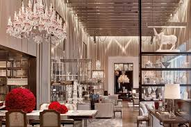 Florian Crystal Chandelier Baccarat Hotel Doubles As Showroom For The Brand U0027s Crystal Goods