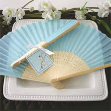 personalized folding fans for weddings light blue silk hand fans personalized