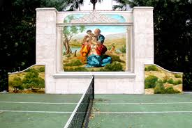 south florida mural artist georgeta fondos award winning muralist outdoor oil painted classical mural after michelangelo s doni tondo