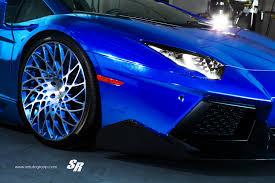 blue chrome lamborghini chrome blue lamborghini aventador by sr auto front bumper side