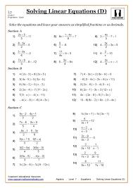 equations with fractions worksheet koogra
