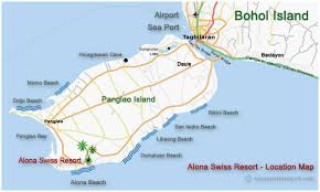 alona resort map alona swiss resort hotel location map how to get there