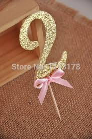 number cake topper birthday decorations glitter gold number cupcake topper gold