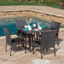 high back wicker patio furniture outdoor seating u0026 dining for