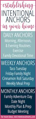 establishing intentional anchors in your daily