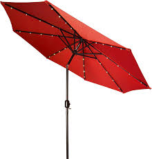 Umbrellas For Patios by Amazon Com Deluxe Solar Powered Led Lighted Patio Umbrella 9