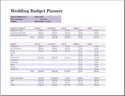 wedding budget planner template word excel templates
