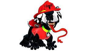 paw patrol venom marshall coloring pages kids venom paw