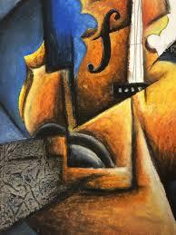 cubism colours cubism instrument pastel and collage lesson create