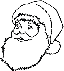 coloring pages to print of santa santa face coloring pages getcoloringpages com