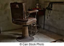 Old Barber Chair Stock Image Of Old Barber Chair From The Days Of The Wild West