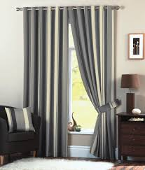 Eyelet Curtains Whitworth Stripe Eyelet Curtains Faux Silk Lined Curtain Pairs