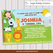 safari birthday printable jungle animals invitation party 5x7