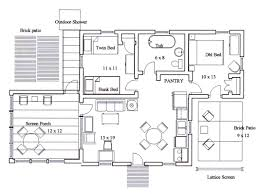 House Plans With Large Kitchens And Pantry Best Kitchen With Island Floor Plans Gallery Home Decorating