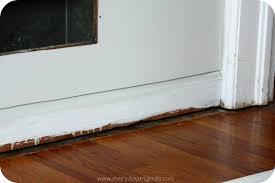 Laminate Floor Molding Guest Room Progress Paint Floor Molding And Hideous Windowsills