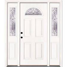 Fiberglass Exterior Doors With Glass Fiberglass Doors Front Doors The Home Depot