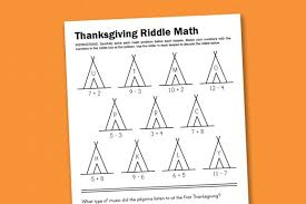 worksheet wednesday thanksgiving math riddle paging supermom