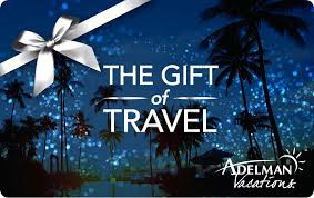 travel gift certificates gift cards adelman vacations