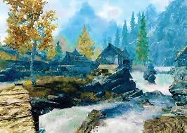 watercolor art home decor skyrim game art poster video