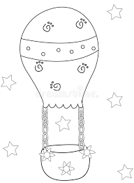 air balloon coloring page stock illustration image of artwork