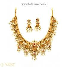 gold jewelry necklace sets images 22k gold temple jewellery necklace sets indian gold jewelry from jpg