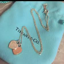 chain heart necklace tiffany images Auth tiffany co 18k rose gold double heart necklace 16 quot luxury jpg