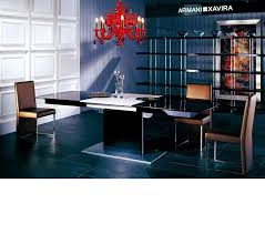 Black Gloss Living Room Furniture Dreamfurniture Com Armani 818 Black High Gloss Dining Table With