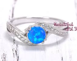 blue opal engagement rings opal engagement ring etsy