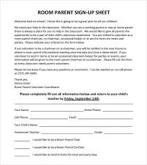 Volunteer Sign Up Sheet Template Free Sle Sign Up Sheet 8 Exle Format
