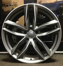 audi rs6 wheels 19 4 x 19 rs6 style alloy wheels to fit audi a3 a4 a6 tt black