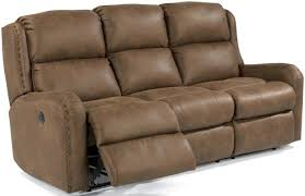 Flexsteel Reclining Sofas Flexsteel Cameron Rustic Power Reclining Sofa With Oversized